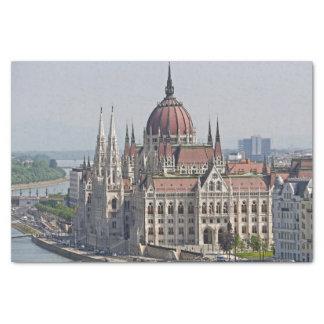 Budapest-Parlamentssüdseite, Ungarn Seidenpapier