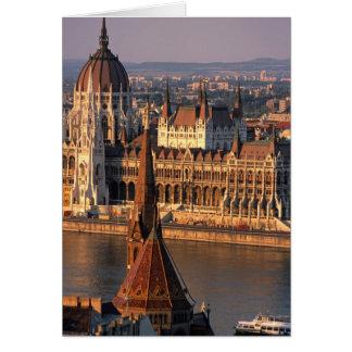 Budapest, Ungarn, die Donau, Parlament Karte