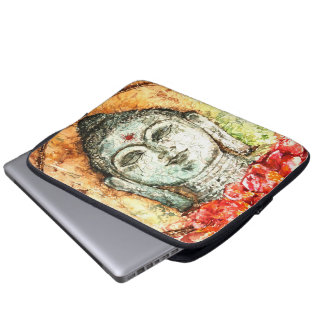 Buddha-Aquarell-Kunst-Laptop-Hülse Laptop Sleeve