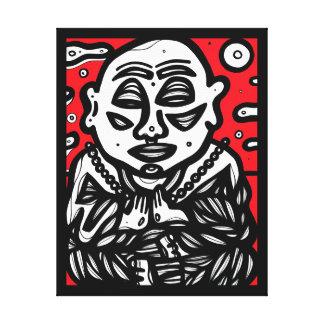 """Buddha beten"" 22"" X 28"" Leinwand-Druck Leinwanddruck"