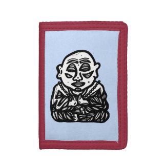 """Buddha beten"" dreifachgefaltete Nylongeldbörse"