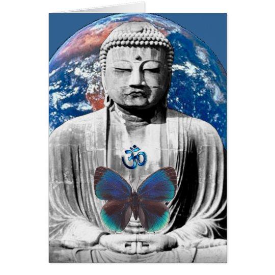 Buddha erwartet Gruß-Karte Karte