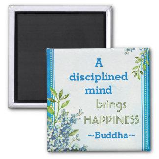 Buddha-Glück-motivierend Zitat Quadratischer Magnet