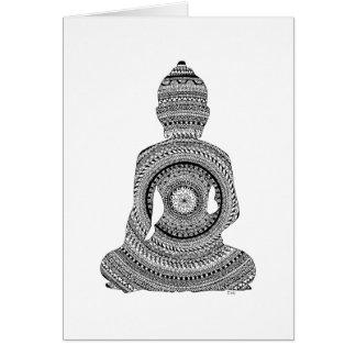 Buddha GraphiZen Grußkarte