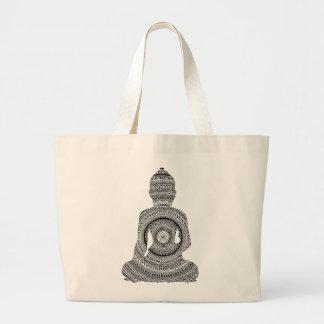 Buddha GraphiZen Jumbo Stoffbeutel