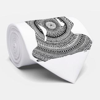 Buddha GraphiZen Personalisierte Krawatte