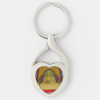 Buddha-Herz-Metall Keychain Schlüsselanhänger