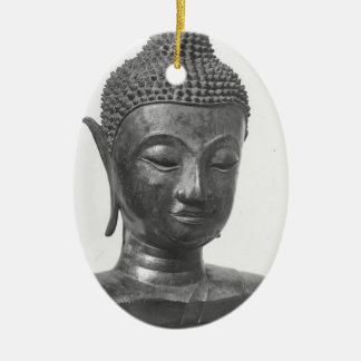 Buddha-Kopf - 15. Jahrhundert - Thailand Ovales Keramik Ornament