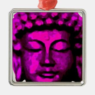 Buddha Kopf Silbernes Ornament