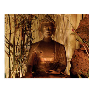 BUDDHA: Kupferne Statue Postkarte