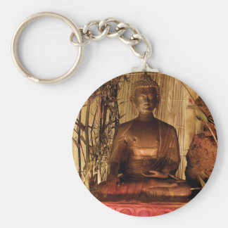 BUDDHA: Kupferne Statue Schlüsselanhänger