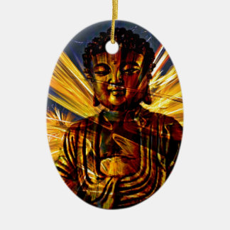 Buddha Ovales Keramik Ornament