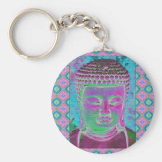 Buddha-Pop in der Magenta und im Türkis Schlüsselanhänger
