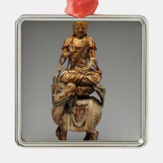 Buddha Shakyamuni mit begleitenden Bodhisattvas Silbernes Ornament