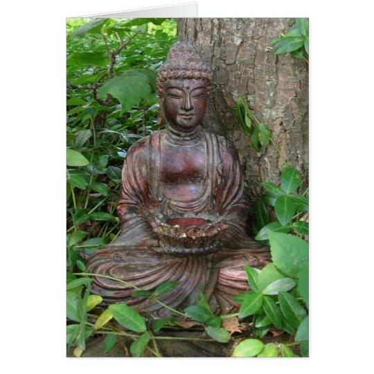 Buddha-Statue Grußkarte