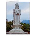 Buddha-Statue in Südkorea, Asien Grußkarte