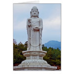 Buddha-Statue in Südkorea, Asien Karte