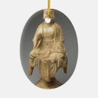 Buddha - Tang-Dynastie (618-907) Ovales Keramik Ornament