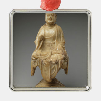 Buddha - Tang-Dynastie (618-907) Quadratisches Silberfarbenes Ornament