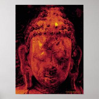 Buddhahauptgoldplakat Poster
