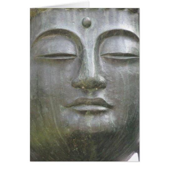 Buddhas Gesichts-Karte Mitteilungskarte