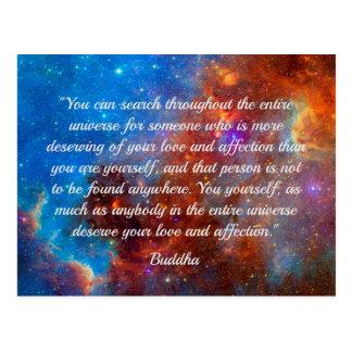 Buddhas Glück-Klugheitspostkarte Postkarte