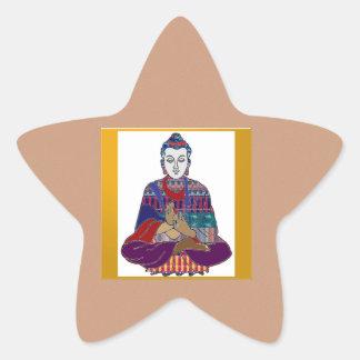BUDDHAvorlagenyoga-Geist-Lord Teacher Meditation Stern-Aufkleber