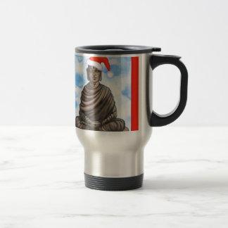 Buddhismus - Buddha - frohe Weihnacht-Hut Edelstahl Thermotasse