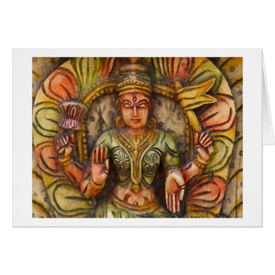 Buddhismus-buddhistische geistige Religion Grußkarte