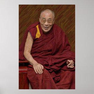 Buddhistische Buddhismus-Meditation Yog Dalai Poster