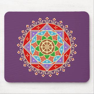 Buddhistische Dharma Rad-Mandala Mauspads