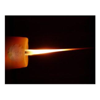 Buddhistische Postkarte SGI mit Lotus-Kerze und