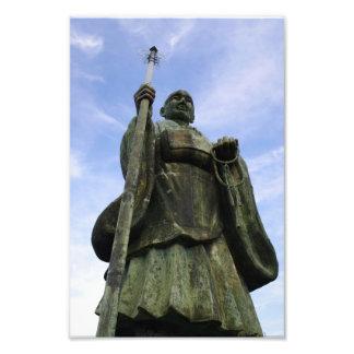 Buddhistische Statue von Imayama Kobo Daishi Photo Druck