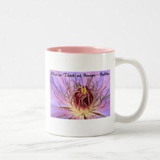 Buddhistische Zitat-Tasse Zweifarbige Tasse