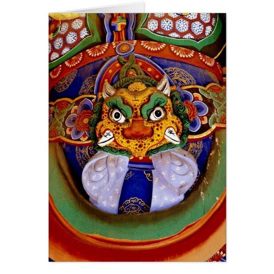 Buddhistisches Bildbild, Tempel Grußkarte