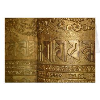 Buddhistisches Goldgebets-Rad-Foto Karte
