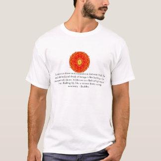 Buddhistisches Zitat mit vibrierendem geistigem T-Shirt