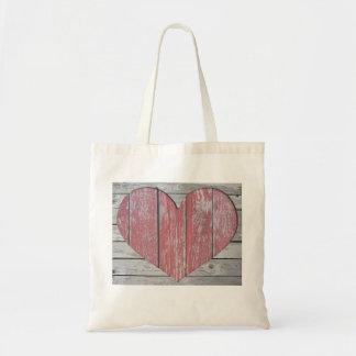 Budget-Tasche mit Herzen Budget Stoffbeutel