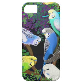 Budgie Papageien in Farne iPhone Fall iPhone 5 Case
