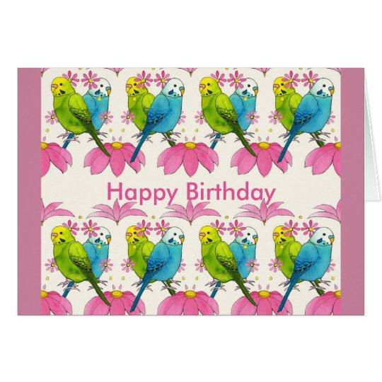 Budgie Vogel alles Gute zum Geburtstagkarte Grußkarte