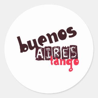 Buenos- AiresTango Runder Aufkleber