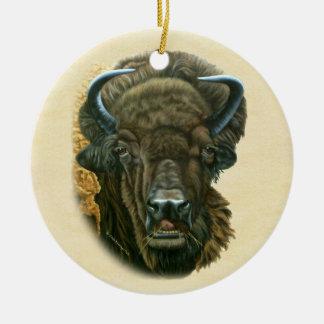 Büffel-Essen Keramik Ornament