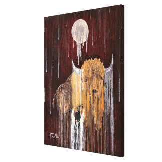 Büffel-Geist Leinwanddruck
