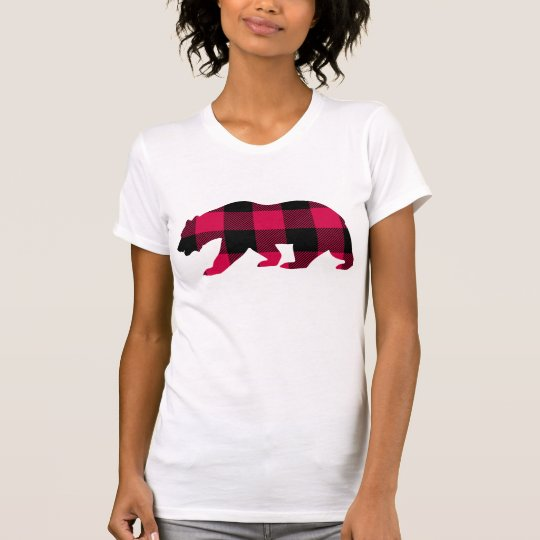 Büffel-karierte Rotwild T-Shirt