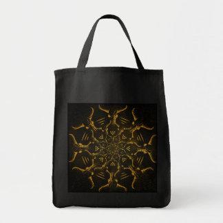 Büffel-Schädelmandala-Taschen-Tasche Einkaufstasche