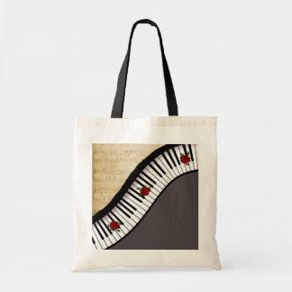 Buget Tasche Klavier-Schlüssel, schwarzer Griff