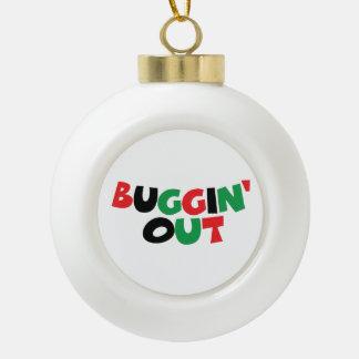 Buggin heraus keramik Kugel-Ornament