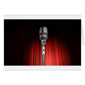 Bühne-Mikrofon Karte