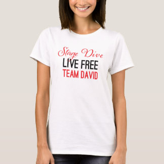Bühne-Tauchen - Live frei im Rot T-Shirt