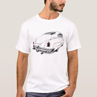 Buick-Führungs-Schlitten 1950 im Weiß mit farbigen T-Shirt